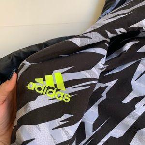 adidas Jackets & Coats - Adidas reversible zebra basketball windbreaker L